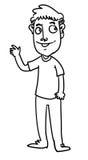 Человек шаржа Стоковое Изображение RF
