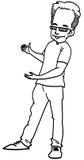 Человек шаржа Стоковая Фотография RF