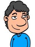 Человек шаржа Стоковое фото RF
