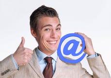 Человек электронной почты. Стоковые Изображения