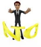 человек 3d без концепции алфавита Стоковая Фотография