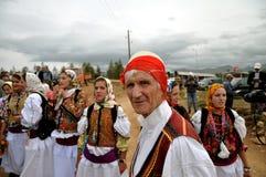Человек Gorani в традиционном костюме Стоковое Изображение