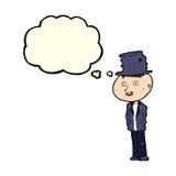 человек hobo шаржа смешной с пузырем мысли иллюстрация штока