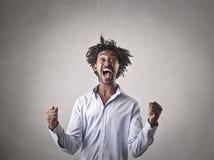 Человек Jubilating Стоковые Фото