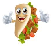 Человек Kebab шаржа Стоковое Изображение