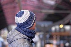 человек knit шлема Стоковые Фотографии RF