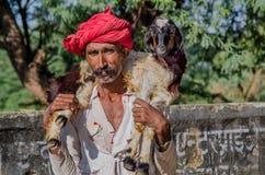 Человек Rajasthani старший Стоковые Изображения RF