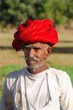 Человек Rajasthani старший Стоковые Фото