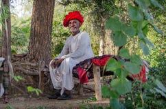 Человек Rajasthani старший Стоковое фото RF