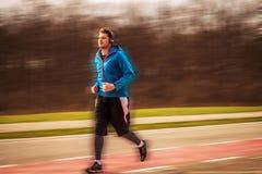 Человек Runing Стоковые Изображения RF