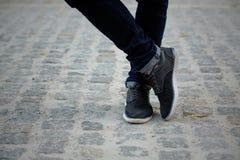 человек s ног Стоковое фото RF