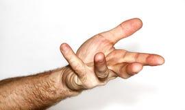 человек s руки Стоковая Фотография RF