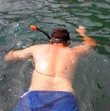 человек snorkeling стоковое фото rf