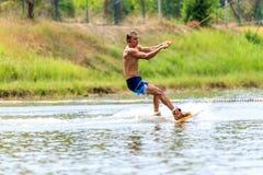 Человек Wakeboarding Стоковое фото RF
