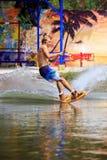 Человек Wakeboarding Стоковое Изображение RF