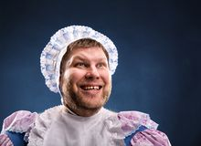 Человек weared как младенец стоковые фотографии rf