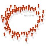 Человеческая группа значка Стоковые Фотографии RF