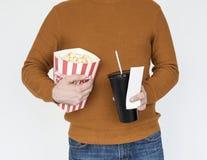 Человеческая концепция билета кино части тела Стоковое Изображение RF