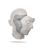 Человеческая маска иллюстрация штока