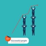 Человеческая пирамида делая расти вверх диаграмма Бесплатная Иллюстрация