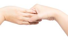 Человеческая рука, забота, дом престарелых Стоковое Изображение RF