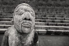 Человеческая скульптура человека от виска Cetho, Jawa, Индонезии Стоковые Изображения