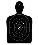 Человеческая цель с пулевыми отверстиями Стоковое Фото