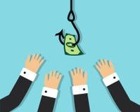 Человеческие жадность и желание получить богатый бесплатная иллюстрация