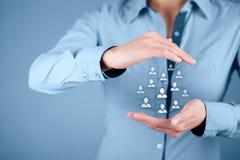 Человеческие ресурсы и забота клиента стоковое изображение