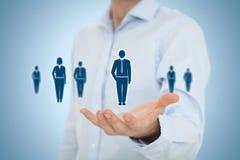 Человеческие ресурсы и забота клиента стоковое изображение rf