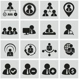 Человеческие ресурсы и установленные значки управления. стоковое фото rf