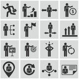 Человеческие ресурсы и установленные значки управления. Стоковая Фотография RF