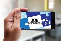 Человеческие ресурсы ОПИСАНИЙ РАБОТЫ, занятость, управление команды стоковые фотографии rf