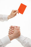 Человеческие руки демонстрируя жест несогласия, одного showin руки Стоковая Фотография RF