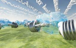 Человеческие смотреть на шарики и линейные облака Стоковые Изображения RF