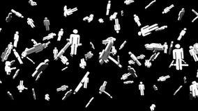 Человеческие форменные объекты на черной предпосылке иллюстрация вектора