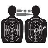 Человеческие цель и пулевые отверстия Стоковое Изображение