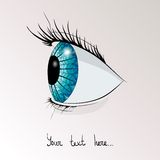 Человеческий глаз в профиле Стоковые Фото