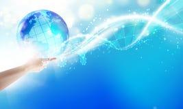 Человеческий держа глобус Стоковые Изображения RF