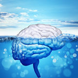 Человеческий мозг в море Стоковые Фото