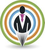 Человеческий логотип цели Стоковые Фотографии RF