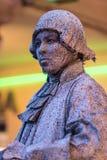 Человеческий уличный исполнитель статуи стоковое изображение rf