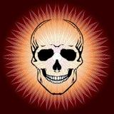 Человеческий череп и Солнце в стиле абстрактного искусства Стоковые Фото