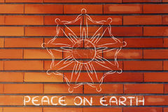 Человечество держа руки вокруг планеты, концепцию мира на земле Стоковые Фотографии RF