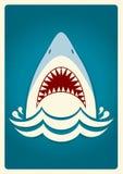 Челюсти акулы иллюстрация штольни предпосылки больше моего видит вектор Стоковое Изображение RF