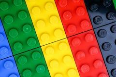 Чиангмай, ТАИЛАНД - 27-ое мая 2018: Lego линия пластмассы c Стоковые Фотографии RF