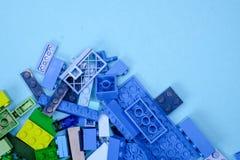 Чиангмай, ТАИЛАНД - 27-ое мая 2018: Lego линия пластмассы c Стоковая Фотография RF