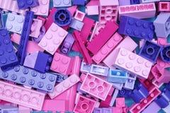 Чиангмай, ТАИЛАНД - 27-ое мая 2018: Lego линия пластмассы c Стоковая Фотография
