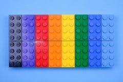 Чиангмай, ТАИЛАНД - 27-ое мая 2018: Lego линия пластмассы c Стоковые Изображения
