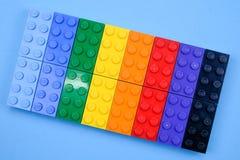 Чиангмай, ТАИЛАНД - 27-ое мая 2018: Lego линия пластмассы c Стоковые Фото